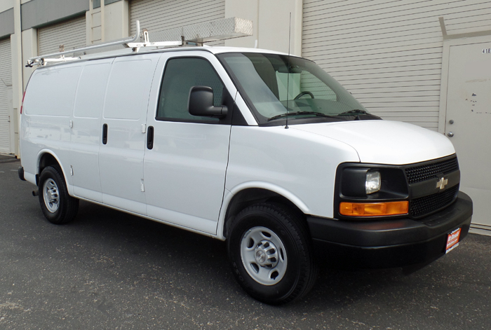 2009 Chevy Express 2500 Cargo Van w/ Rack, Bins, Shelving, Safety Cage and Only 95K
